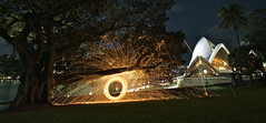 Feuer Oper (alexkess) Tags: street light house lightpainting tree wool gardens night painting underground botanical fire photography wire nikon opera long exposure flickr harbour dire flames sydney royal australia ring burning photoblog nsw alexander juggling macquarie tobias sparks dreamscape wirewool firepainting d700 alexkess kesselaar lightpainters firewool huenlich dangerousdads
