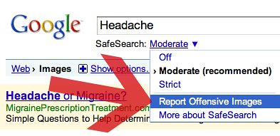 Report Images on Google