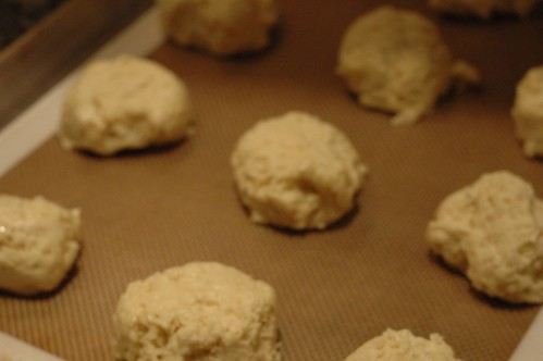 biscuits before baking