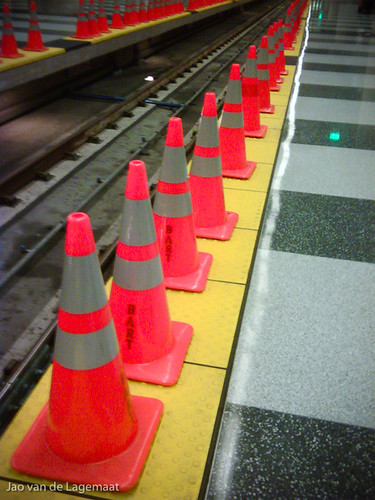 Safety Cones at the SFO BART station