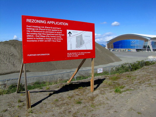 ASPAC RiverGreen land dvelopment on the west side of the Richmond Olympic Oval