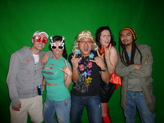 Green Screen Before Background Inserted (migpascual) Tags: birthdayparty theme rockband greenscreen rockbank