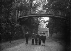 Old Village, Portslade (foundin_a_attic) Tags: negtive fashion boys bridge