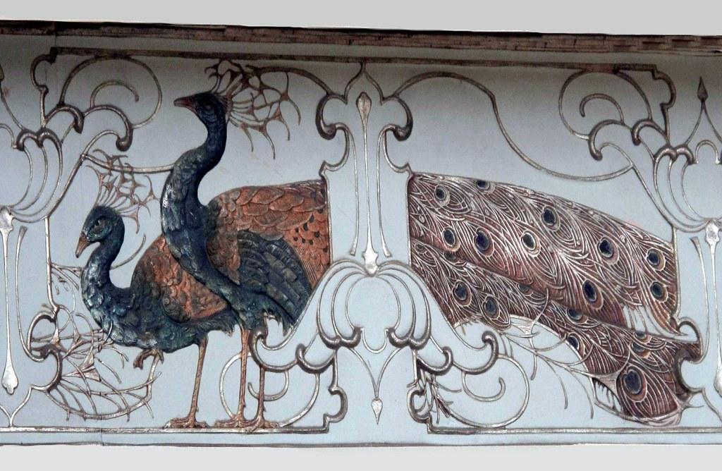 Jolly's Bath - Art Nouveau Peacock Frieze #2