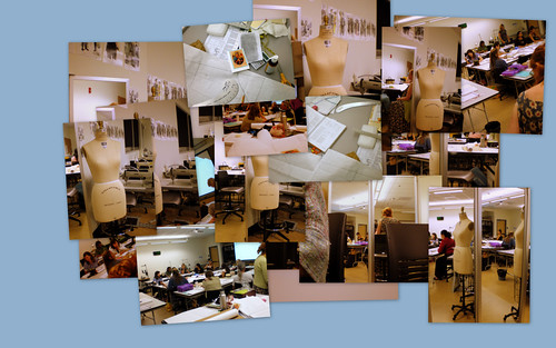 Collage of Patternmaking Class, Fall 2009