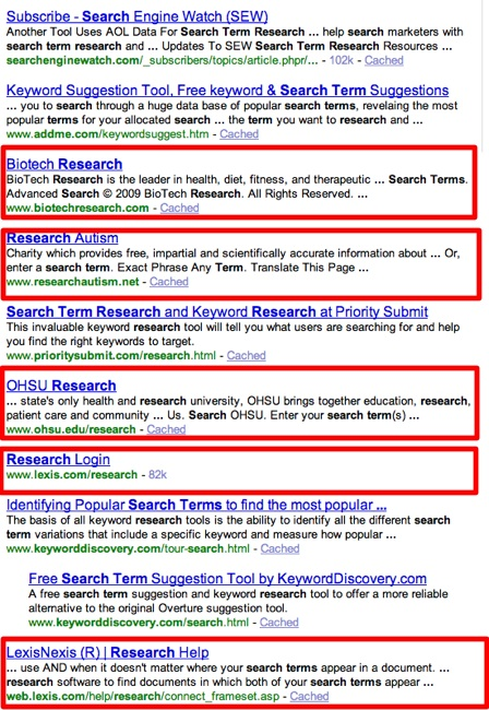 search term research - Yahoo! Search Results