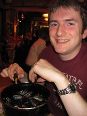 Thai Moules and Chips at the Crab Shack, St Brelade's Bay