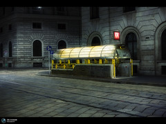 M (Jrg Dickmann) Tags: street city italien light italy milan station night subway geotagged 50mm italia mood nocturnal nightshot metro nacht milano m ubahn canon5d stazione notte mailand canon50mmf14 iso1000 geo:lat=4547554 geo:lon=9194226