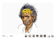 richards (eduardowestin) Tags: old rock stones keith angie pirate satisfaction richards giz velho caricatura guitarrista