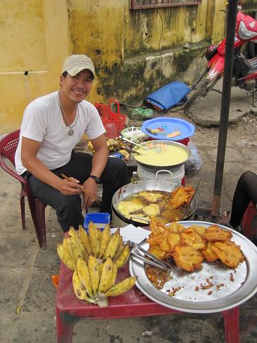 Hoi An, Vietnam - bananna fritter vendor