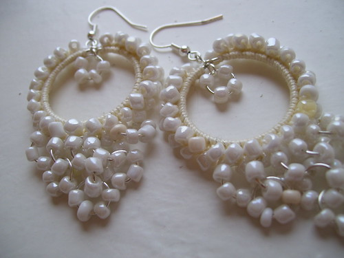 Gypsy hoops in white