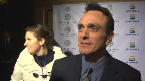 Actor Hank Azaria being interviewed by Craig