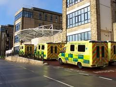 Ambulances - Bradford Royal Infirmary (James W Bell (Good Honest Iago) - Leeds) Tags: photography bradford images photographs ethnic westyorkshire