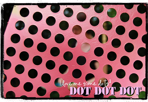 Stencil that makes dots (Copyright Hanna Andersson)