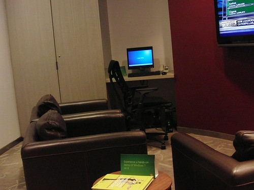 Windows 7 at Saks 5th Avenue lounge