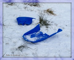 The Sad Sledge. (IMG_5248) (Robert G Henderson (Romari).) Tags: winter snow ice december 2009 eastkilbride