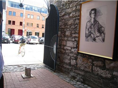 Street art from Portrait Gallery