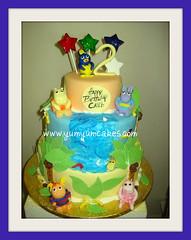 3 tier backyardigans  in the jungle cake (yumyumcakes) Tags: birthday water cake safari jungle backyardigans