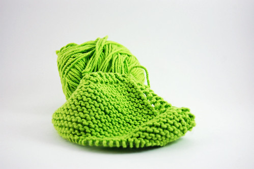 Lime Dishcloth UFO