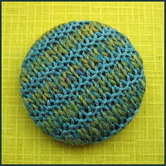 Knitted button (Birthine) Tags: wool knitting buttons silk knit button silke knap strik knapper ylle uld