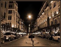 Empty Street (Fotografy86) Tags: christmas street lebanon night lights sony cybershot beirut لبنان h9 وسط solidere بيروت dsch9 سوليدير beirutatnight