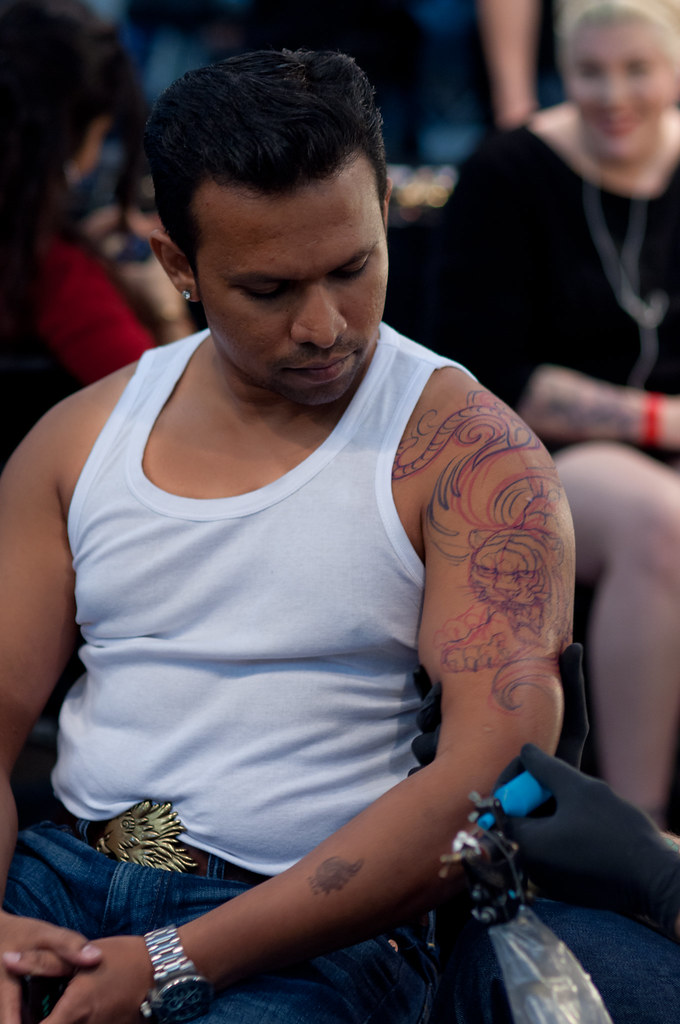 f4ba73591 Tiger tattoo by Chris Garver (froisnaidu) Tags: chris tattoo ink miami  tiger garver