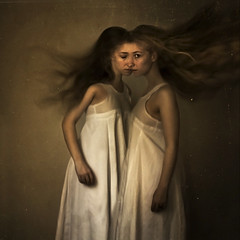 the one and the other one (brookeshaden) Tags: painting one other twin bound attached brookeshaden