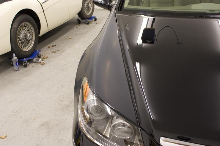 Acura RL wet sanding before polishing