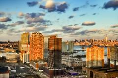 a cloud party (mudpig) Tags: nyc newyorkcity sunset cloud landscape geotagged jerseycity newport esb hudsonriver empirestatebuilding hdr hoboken powerhouse pavonia trumpplaza mudpig stevekelley