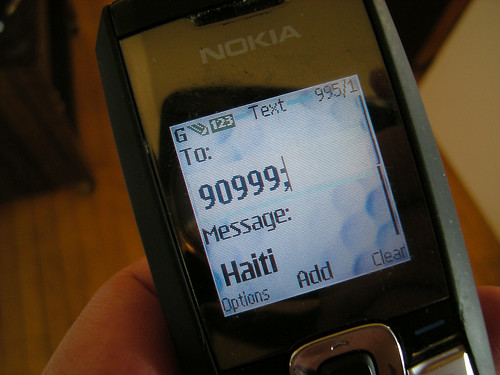 Text Haiti Relief Contribution to the American Red Cross