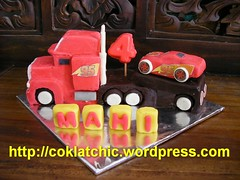 Mack Truck dan Lightning McQueen Birthday Cake – MAHI
