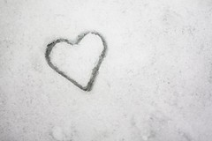 cold heart (oblivion head) Tags: winter snow love ice heart valentine luv valentines valentinesday heartshaped valentinecard camillesappeal