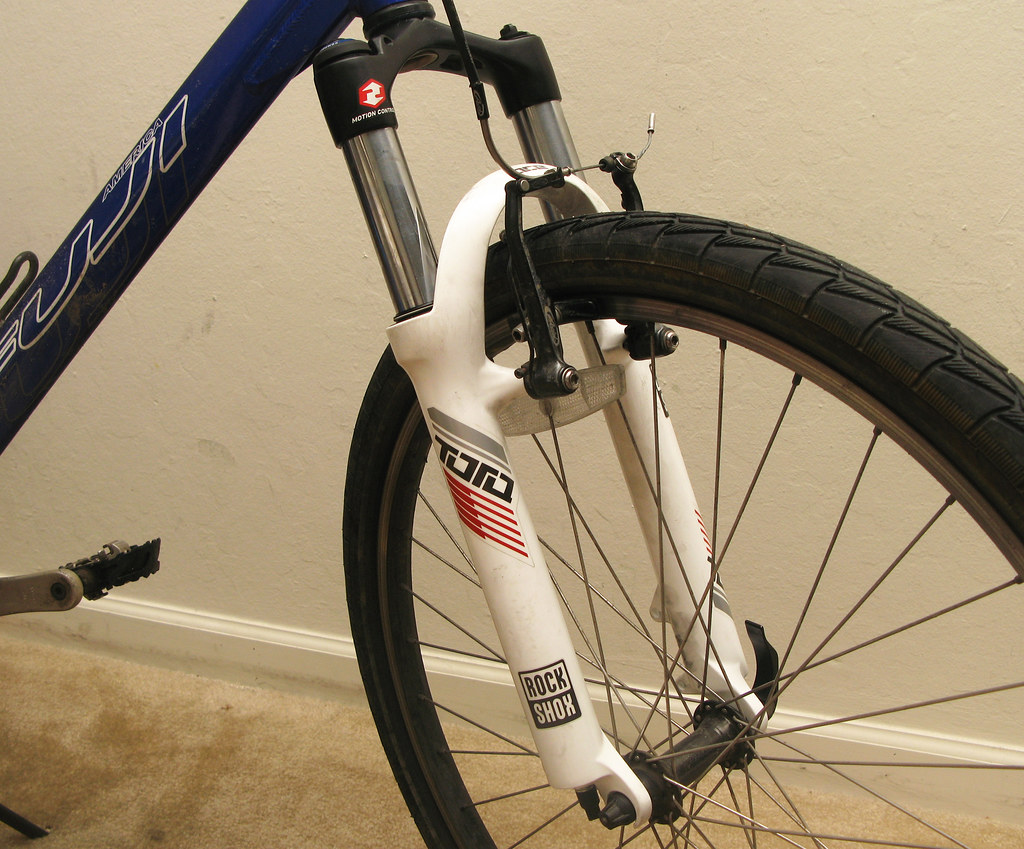 Brokey bike with new fork