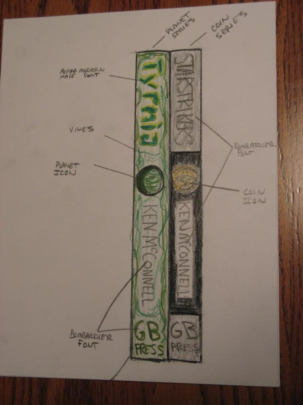 Proposed Spine Art for Coin and Planet Series Books