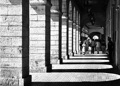 Light & Shadow (Mister Blur) Tags: light shadow blackandwhite bw blancoynegro mexico nikon arch portishead strangers yucatan portales merida blackdiamond arcos d60 yucatán mérida méxico rocoeno