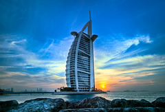 500 AED... (ADW44) Tags: sunset beach marina photoshop hotel dubai uae middleeast atlantis burjalarab hdr lightroom jumeirahbeach photomatix 1635f28l canon5dmarkii