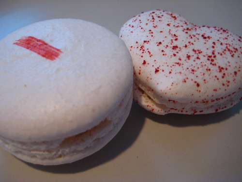 Strawberry & Rose Heart Macaron
