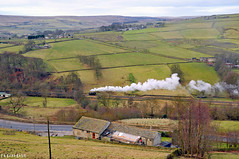 Going it Alone. LMS 3F 47279 KWVR. (FlyingScotsman4472) Tags: england scenery smoke yorkshire railway steam valley locomotive worth moor 3f gala pennine lms keighley kwvr jinty 47279