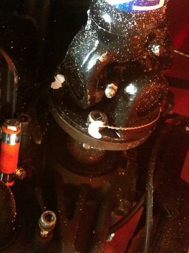 All prop shaft bolts are lock wired and marked