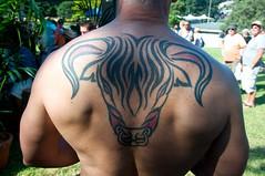 Ray's back (HardieBoys) Tags: tattoo sydney australia fair bull mg gras tat mardi stud tats
