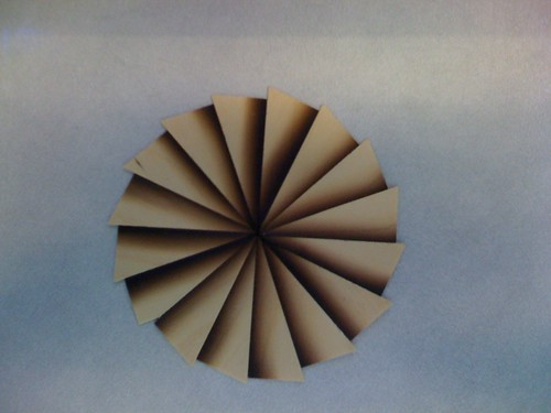 Partially Completed Inlay Fan