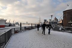 Winter in Hamburg (sicksadlittleworld) Tags: schnee winter snow nature river landscape harbor frozen harbour hamburg hafen landungsbrcken eis elbe winterlandschaft vereist zugefroren