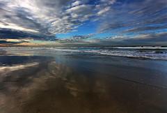 infinity (paololivorno) Tags: sunset sky reflection beach water clouds port reflex sand mare infinity horizon pisa porto acqua infinito livorno spiaggia element riflesso orizzonte tirrenia calambrone immensità yourwonderland