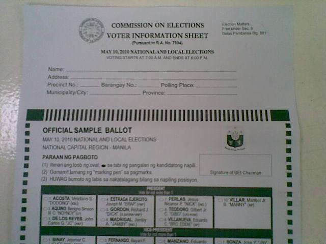 Comelec to send out sample ballots to registered voters | News ...