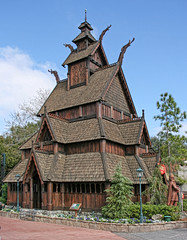 Scale Replica of the Gol Stave Church, Norway Pavilion, Epcot, Disney World (bill barber) Tags: church oslo norway statue architecture norge orlando epcot worship europe florida decoration gingerbread replica gargoyle nordic column waltdisneyworld scandinavia viking openairmuseum freilichtmuseum plank middleages stavechurch faade gable bygdy woodenchurch finial gothicarchitecture norvge timberframing norskfolkemuseum dragonhead hallingdal quoin postchurch scandinavianheritagepark oscarii golstavkirke colonettes shakeshingle plankwall medievalwoodenchurch palisadeconstruction waldemarhansteen postbeamconstruction societyforthepreservationofnorwegianancientmonuments phillipodden elsebigton