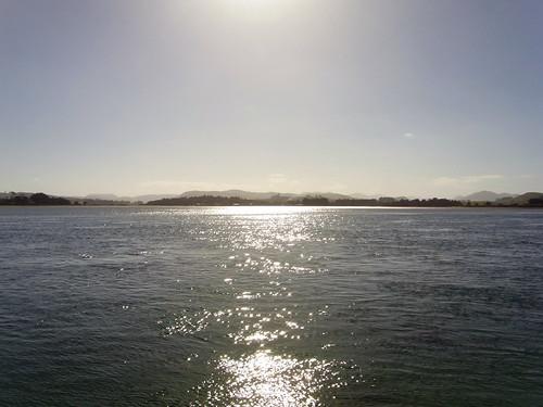 Sun across Surat bay.