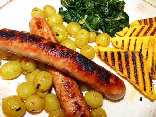 Vineyard Sausages with Grapes