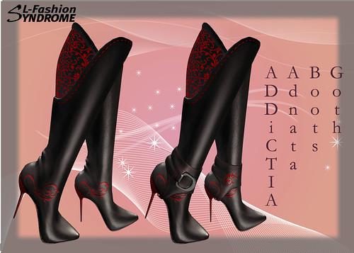 addictia boots goth