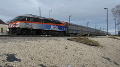 Westbound Metra local departing from Elmwood Park Illinois. Sunday afternoon, March 14th 2010. by Eddie from Chicago