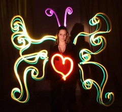love butterfly- light painting performance